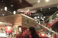 Christmas Kissing Drones - TGI Fridays UK Gets Couples to Kiss Under the Mistletoe