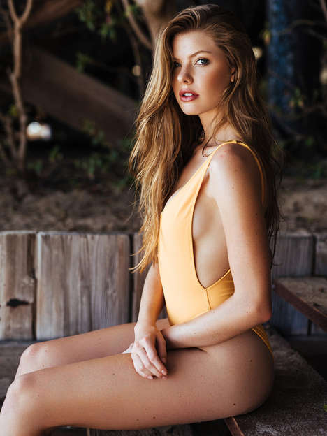 Luscious Swimsuit Editorials - Jeffrey Chan Photographed McKenna Berkley for C-Heads
