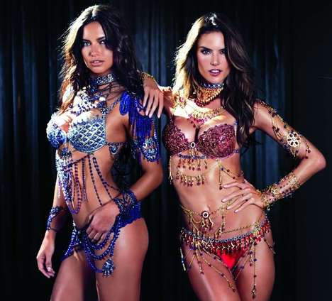 Diamond Encrusted Bra Sets - The Victoria's Secret Fantasy Bra 2014 Retails for $2 Million Each