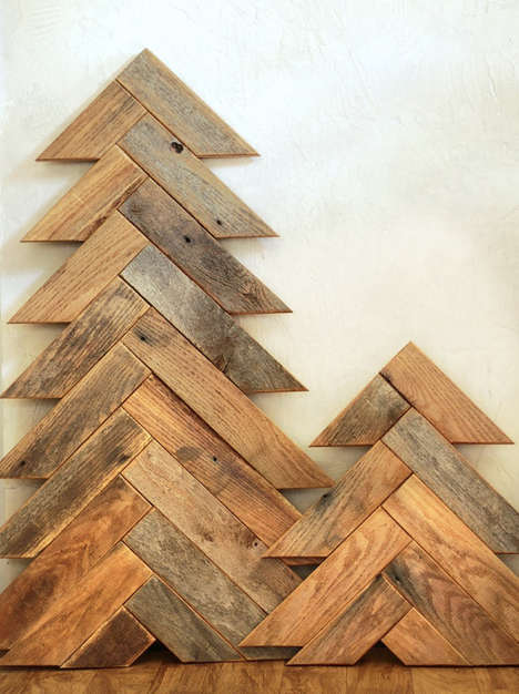Stacked Wood Tannenbaums - This Barnwood Christmas Tree is a Rustic Holiday Accent