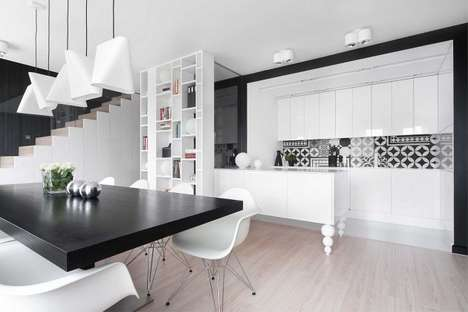 Monochromatic Polish Apartments - This Contemporary Dwelling Design Hinges on Simplicity
