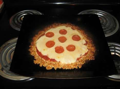 Alternative Cereal Crusts - This Rice Krispie Pizza Recipe Incorporates Marshmallow Into Its Crust