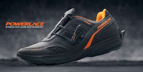 Self-Lacing Shoes - The Powerlace Shoe Laces Itself