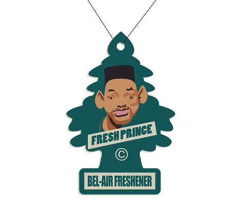 Pop Culture Car Accessories - The Fresh Prince Bel-Air Freshener Concept is Made for Millenials