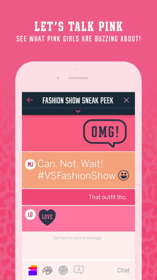 Girly Messaging Apps - Pink Nation by Victoria's Secret Now Also Serves as a Chat Messaging App