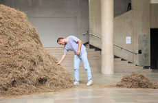 Figure of Speech Installations - Sven Sachsalber Takes 24 Hours to Look for a Needle in a Haystack
