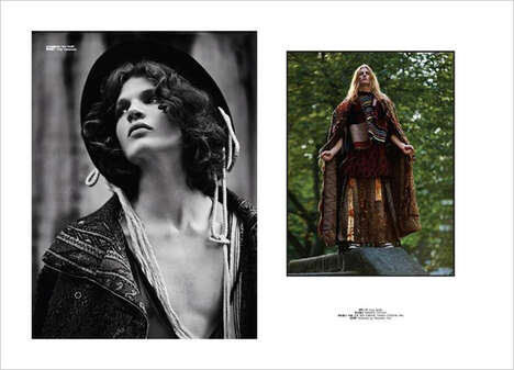 Bohemian Menswear Editorials - GQ Style China's The Fall Story Highlights Nomadic and Draped Styles