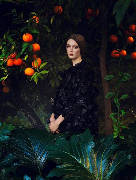 Refined Renaissance Lookbooks - The Valentino Spring/Summer Lookbook Goes Back in Time
