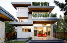 Solar-Powered Abodes - The Contemporary Family Residence Features an Eco Design