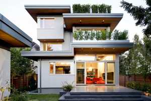 The Contemporary Family Residence Features an Eco Design