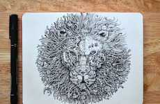 Hyperrealistic Animal Illustrations - Kerby Rosanes Depicts Jungle Creatures Using Pen and Ink Tools