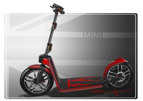Urban Electric Scooters - The Mini CitySurfer is Inspired By Kick Scooters