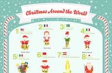 Global Celebration Charts - This Infographic Displays Fun Facts About Christmas Around the World