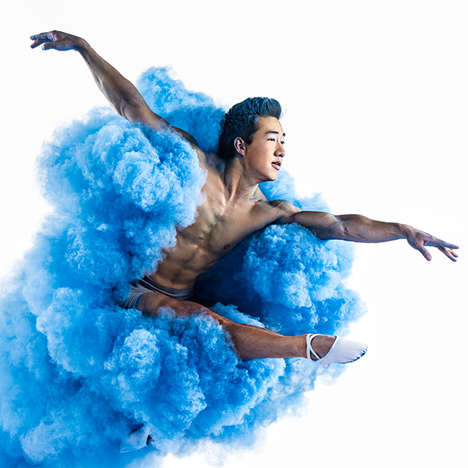 Explosive Color Photoshoots - Tim Tadder Blasts Dancers with Vibrant Powder for Powerful Images