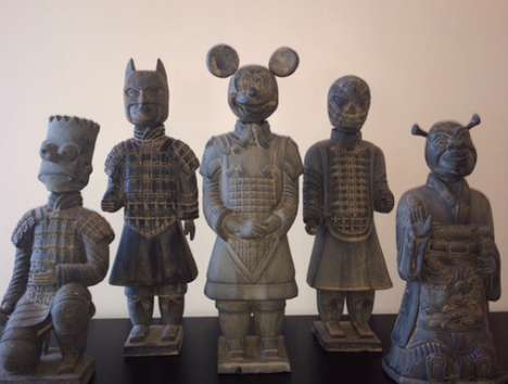 Ancient Pop Culture Statues - The Terracotta Army by Lizabeth Eva Rossoff is a Modern Twist