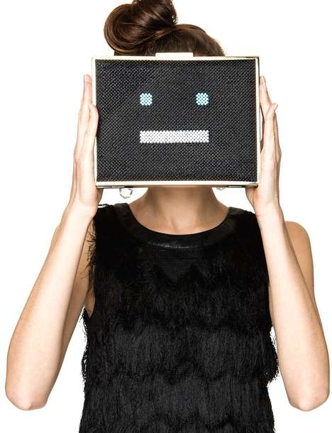 Tech-Themed Statement Clutches - Pixie Market's Face Time Party Clutch is Perfect for Millennials
