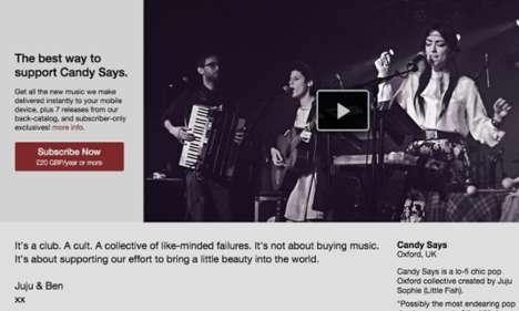 Trailblazing Music Subscription Services - Bandcamp Enables Bands to Maintain Subscription Services