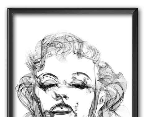 Smoke-Created Portraits