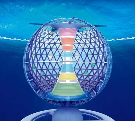 Spiraling Underwater Cities - Ocean Spiral is Designed To Tap into the Deep Sea