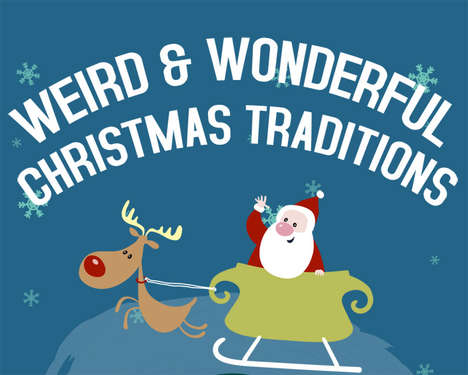 Global Christmas Convention Charts - This Infographic Explores Christmas Traditions Internationally