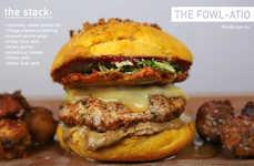 Festive Turducken Burgers - This Turkey Burger Also Incorporates Duck Skin and Chicken Liver Pate