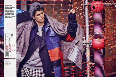 Homeless Model Portrayals - GQ Spain's From the Inside Out Story is Gritty and Raw