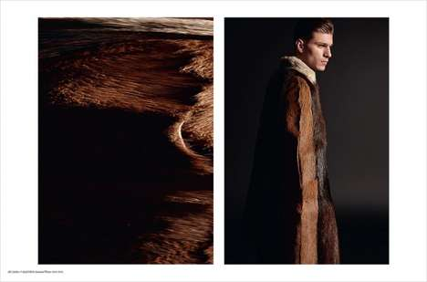 Textural Winter Fashion - Fashion for Men's Valentino Story Highlights the Label's Dapper Looks