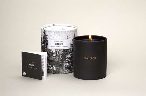 Poet-Inspired Candles - This Ceramic Candle Jar Takes After American Writer Henry David Thoreau