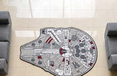 Intergalactic Area Rugs - The Millennium Falcon Area Rug Gears You Up for the Next Film