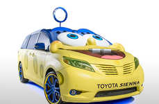 Cartoon-Inspired Minivans - The SpongeBob Toyota Sienna is Fanatically Designed and Awesome