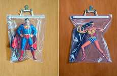Packaged Superhero Illustrations