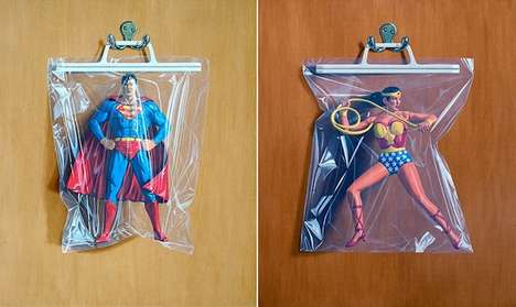Packaged Superhero Illustrations - These Pop Culture Paintings Boast an Incredible Amount of Detail