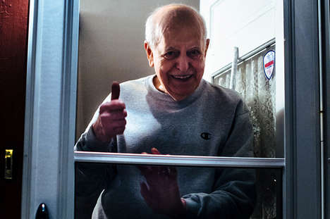 Poignant Farewell Photography - 'Goodbye at the Door' Captures Parents Waving Goodbye