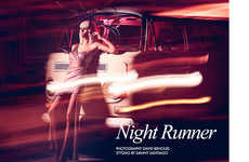 Glam Nighttime Editorials - The Fashion Gone Rogue 'Night Runner' Photoshoot Stars Gintare Sudziute
