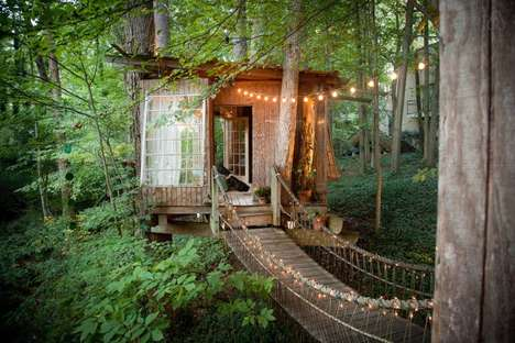 Secluded Treehouse Homes - This Intown Secluded Treehouse is Located in Rural Atlanta