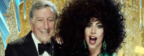 Tuneful Fashion Campaigns - H&M's Magical Holidays Campaign is Led by Lady Gaga & Tony Bennett