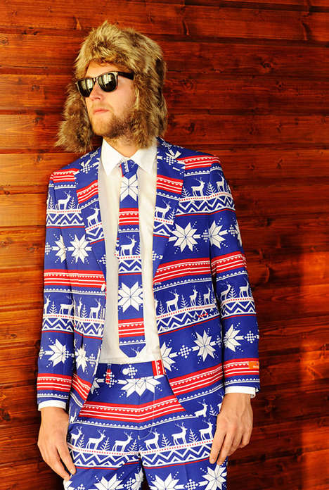 Festive Sweater-Themed Suits - OppoSuit's Ugly Christmas Suit Line was Inspired by Loud Patterns