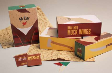 Manly Vegetarian Packaging - BUTCH's Packaging for Men Champions Manly Non-Meat Eaters