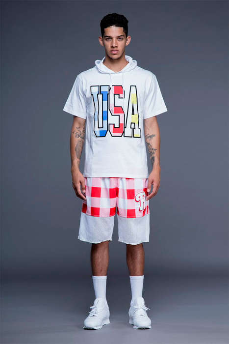 Patriotic Athlete Apparel - The Latest Joyrich Lookbook Highlights Vibrant Prints and USA Logos