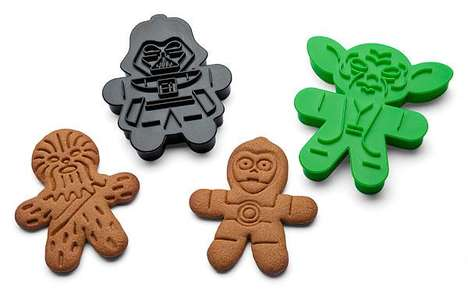 Sci-Fi Gingerbread Cookie Cutters - This Cookie Cutter Set Makes Star Wars Cookies for the Holidays