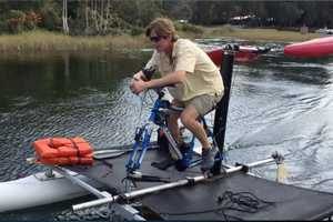 The Seahorse Incorporates Your Bicycle into an Airboat