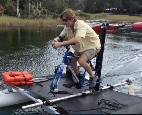 Human-Powered Airboats