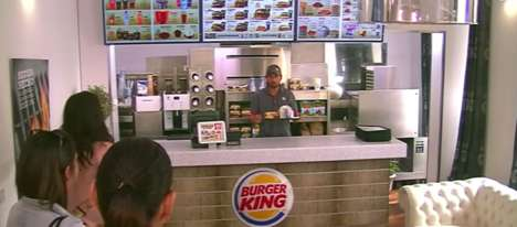In-Home Restaurant Stunts - Burger King Promotes Its Burger Delivery Service with a Surprising Stunt