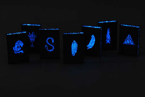 Luminous Laser-Cut Book Covers - The Redesigned Harry Potter Pop-Up Books are Magically Illustrated