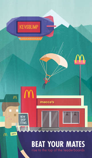 Rewarding Burger Games - McDonald's Mobile Food Game Tempts Players with Free Food Rewards