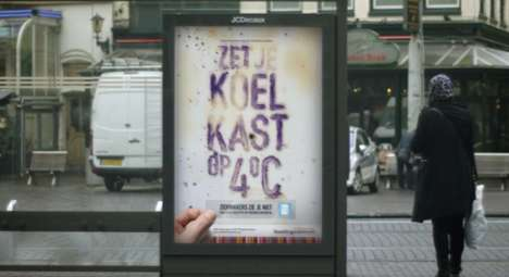 Live Bacteria Billboards - This Health Marketing Stunt Uses Live Bacteria Collected from Kitchens