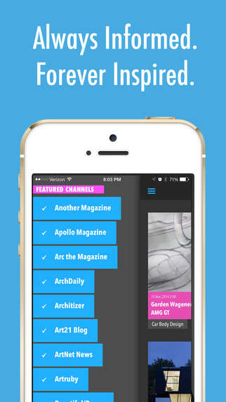 Inspiring Newsfeed Apps - Apollo Muse is a RSS App Dedicated to the Best Tech, Design and Art News