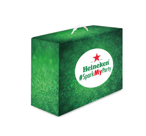 Spontaneous Party Campaigns - Heineken's Social Media Twitter Campaign Makes Holiday Parties Better