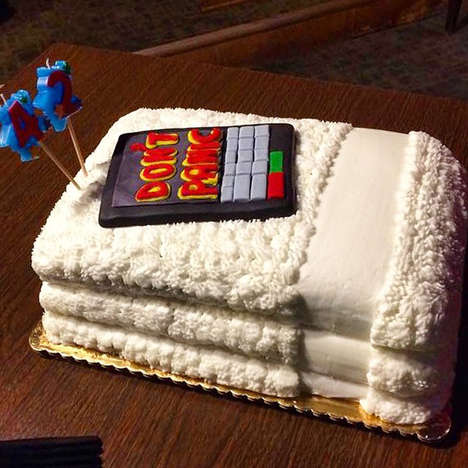 Comedic Sci-Fi Cakes - This Towel-Featuring Funny Cake has a Hitchhiker's Guide to the Galaxy Theme
