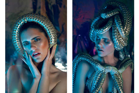 Coiled Accessory Editorials - Chris Rushton Captures Glassbook Magazine's Prism Lights Story